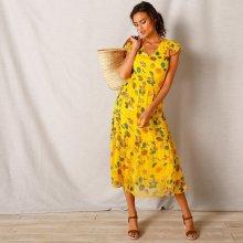 f9d09b6a6f82 Blancheporte Dlhé šaty s potlačou žltá