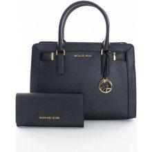 fd8e03bb7 Michael Kors set kabelka Dilon satchel s peňaženkou Jet set travel carryall  čierna