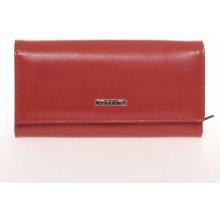 Lorenti Veľká matná elegantná kožená červená peňaženka GF111SL červená 55fc84c999f