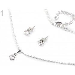 jablonecká bižutéria náhrdelník a náušnice s brúsenými kamienkami 130001 55df13b46fe