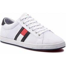 b4e30bd43 TOMMY HILFIGER - Essential Flag Detail Sneaker FM0FM02202 White 100
