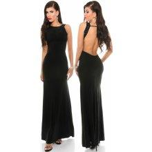 KouCla 0000K18272 dámske rafinované maxi šaty čierna
