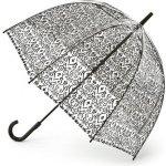 Fulton Dámský průhledný holový deštník Birdcage 2 Damask Black L042-2