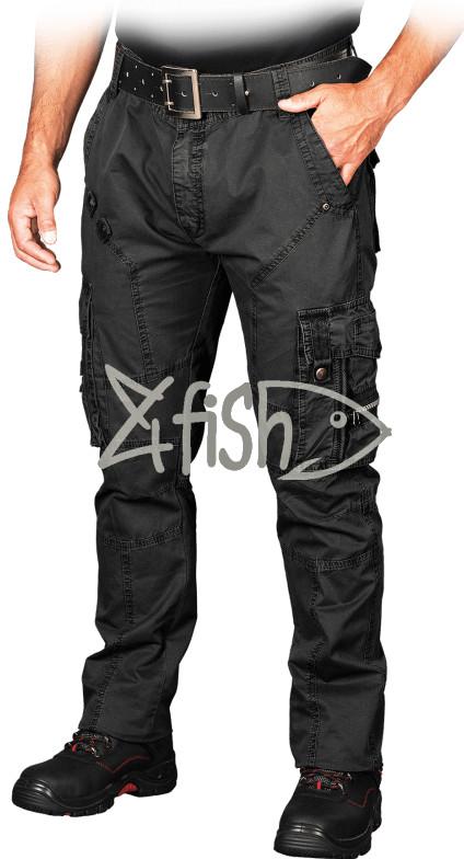 8f4be9429c Rybárske nohavice a kraťasy Príľnavé bavlené nohavice COMBAT čierna ...