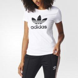 7dd4eadf9f adidas Tričko Originals TREFOIL TEE Biela   Čierna alternatívy ...
