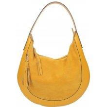1b8f818cbd5b Made In Italy kožená kabelka na rameno 5077 okrová