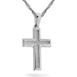 118a4c627 iZlato Forever Prívesok z bieleho zlata krížik IZ14598AL alternatívy ...