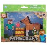 Minecraft Sammelfigur Steve mit Pferd