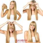 SANGRA HAIR Ofina ľudké vlasy-za pár minút Vás zmení