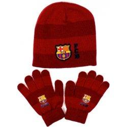 b56558a71053c zimná čiapka a rukavice FC BARCELONA stripe červená alternatívy ...
