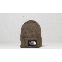 The North Face The Logo Box Cuffed Beanie New Taupe Green