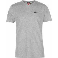 0387cc659 Lee Cooper Essentials V Neck T Shirt Mens Grey Marl