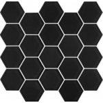 PARADYZ MARGARITA Nero Heksagon - mozaika sklenená 28x25,8 Lesklé