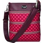Dara Bags ružová bodkovaná kabelka dariana middle