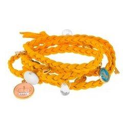 Šperky eshop pletený náramok žltej drobné prívesky rôznych tvarov a farieb  S1.6 97b4aa51507