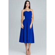 6df443074016 Figl Modré šaty bez ramínek M602 modrá