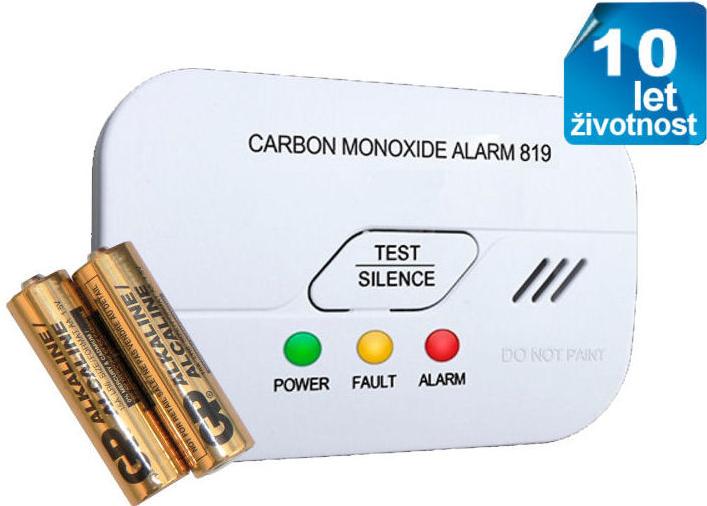 Domový alarm Detektor oxidu uhelnatého s alarmem hlásič CO Hutermann ... 00785c99646