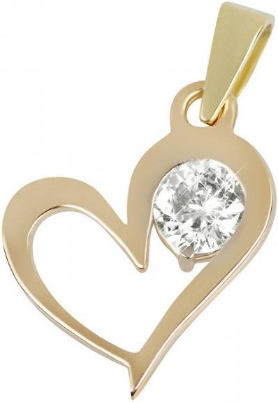 8606170a9 Prívesok Brilio Zlatý prívesok srdce s kryštálom 246 001 00463 ...