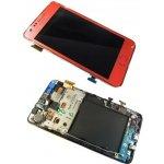 LCD displej + dotyk + predný kryt Samsung i9100 Galaxy S2 Pink