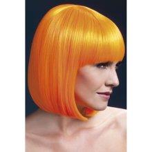 Fever Elise Wig Neon Orange Sleek Bob with Fringe