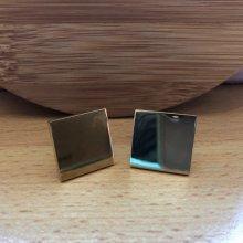 Manzetky.sk manžetové gombíky na gravírovanie zlatý štvorec M01132