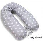 MamoTato Relaxačná poduška-Vankúš na kojenie Sivá s hráškami