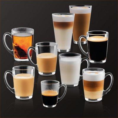 Celá škála automaticky pripravovaných kávových nápojov