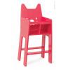 Drevená jedálenská stolička pre bábiku Babycat Janod