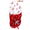 Zavinovačka, peřinka de lux - Červená srdíčka v bílé/Srdíčka bílá v červené (Vzor: Červená srdíčka v bílé/Srdíčka bílá v červené, Verze: klasik)