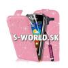 Kožený obal Samsung Galaxy Ace 2 - Diamond Flip svetlo-ružová