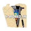 Kožený obal Samsung Galaxy Ace 2 - Diamond Flip krémová