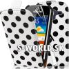 Kožený obal Samsung Galaxy Ace 2 - Polka Flip biela