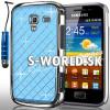 Zadný kryt Samsung Galaxy Ace 2 - Chrome Diamant svetlo-modrá
