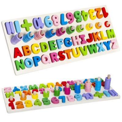 ISO 10979 Drevená vkladačka abeceda, čísla