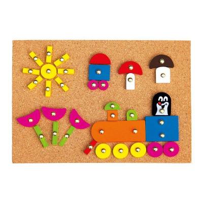 Bino 13737 Dřevěná hra s kladívkem Krtek