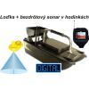Rybárska zavážacia loďka BL a bezdrôtový sonar v hodinkách