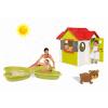 Set detský domček My House Smoby s elektronickým zvončekom a pieskovisko Motýľ s vodotryskom od 2 rokov