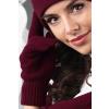 Kamea Bordové dámske rukavice na zimu Kamea 01 18f055f84b