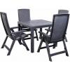 Záhradný nábytok - Deokork - Quartet II. 1+4 antracit (Plast). Akcia -8%. Sme autorizovaný predajca Deokork. Vlastná spoľahlivá doprava až k Vám domov.