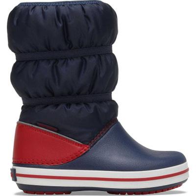 Crocs chlapčenské snehule Crocband Winter Boot K Navy/Red 206550-485 30-31 tmavomodrá