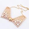 Perlový náhrdelník - zlatý