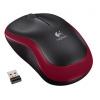 myš Logitech Wireless Mouse M185 nano červená (910-002240)