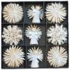 36cd1f4f8 Slamené ozdoby na vianočný stromček perleťové - 33 kusov DR00327