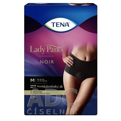 TENA Lady Pants Plus Noir M čierne dámske naťahovacie inkontinenčné nohavičky 1x30 ks